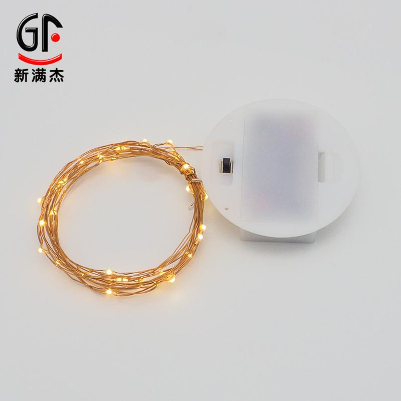 decorative light switches.htm 2019 ins new white round battery box copper string light creative  battery box copper string light