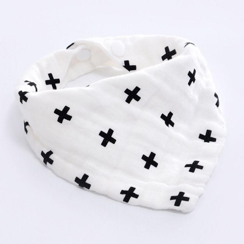 Milk bottle Baby Boy Girl Bibs Bandana Water Absorb Bib Burp Cloth Triangle Cotton Baby Scarf Burp Baby Christmas Accessories
