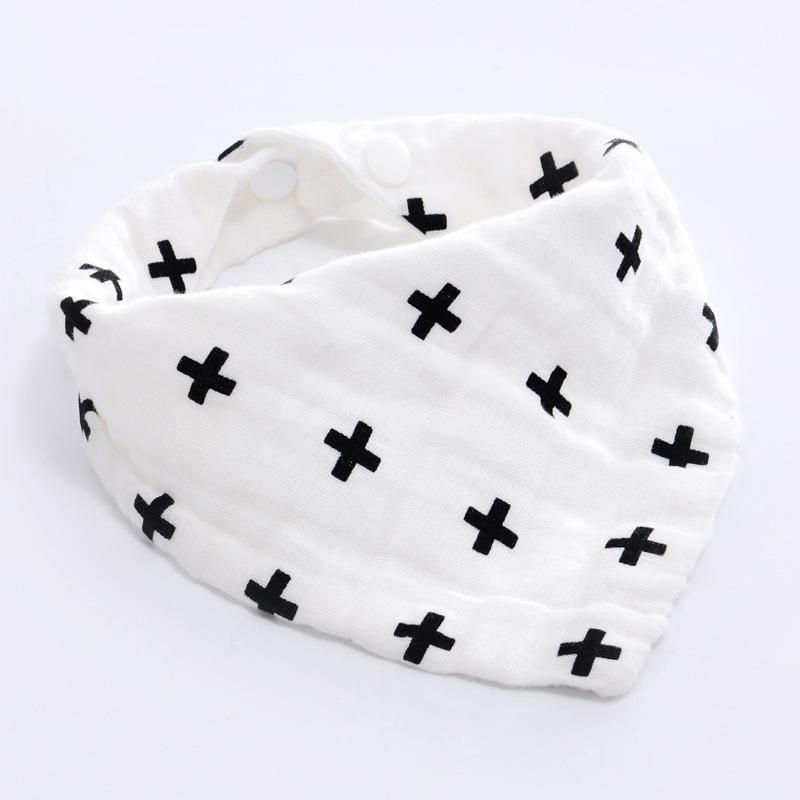 Milk bottle Baby Boy Girl Bibs Bandana Water Absorb Bib Burp Cloth Triangle Cotton Baby Scarf Burp Baby Christmas Accessories