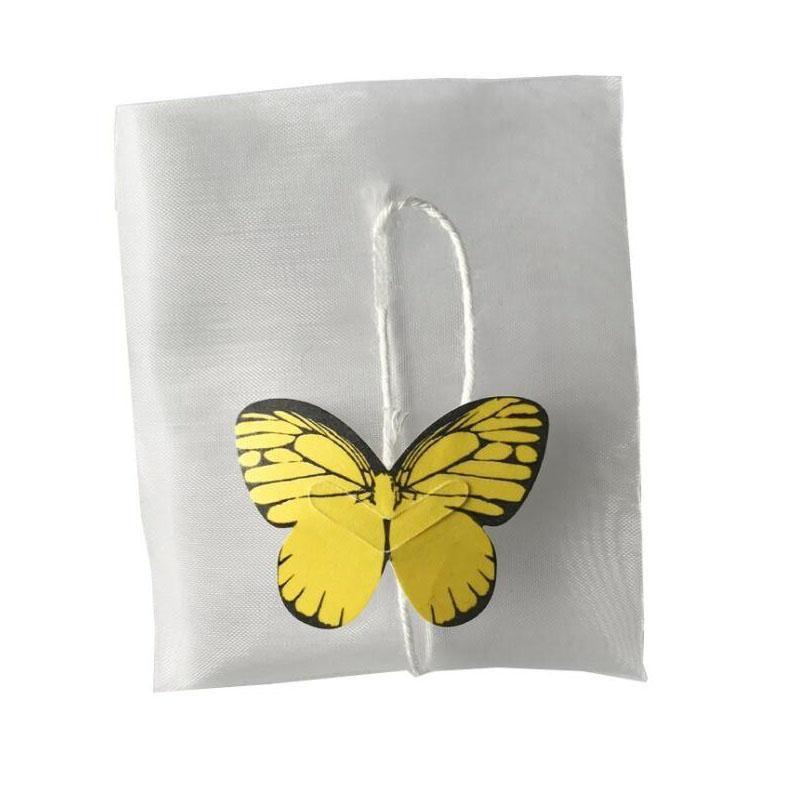 Esvaziar Nylon Tea Bag Com Corda Seal calor papel de filtro solto sacos de chá Infuser Filtro borboleta Etiqueta 5.8 * 7cm ZA5984