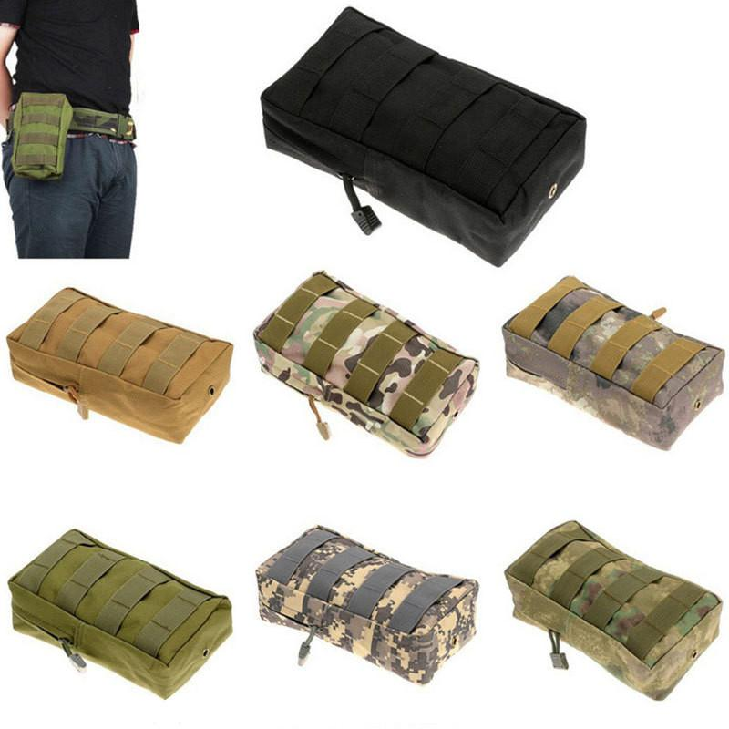 Tactical Hunting Molle Edc Utility for Vest Backpack Belt Outdoor Sports Waist Pack Airsoft Game Accessory Bag