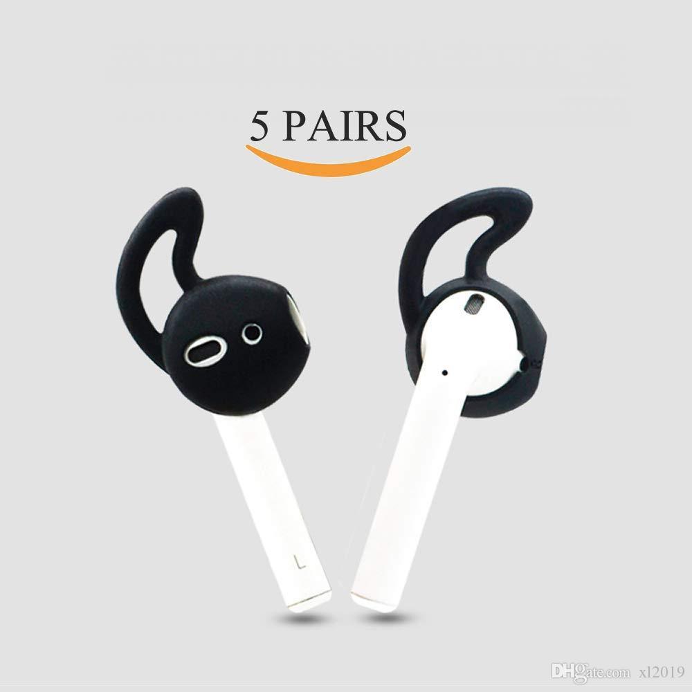 Elma AirPods ile uyumlu Kulak Kancalar ve Kapaklar Aksesuar veya EarPods Kulaklıklar / Kulaklıklar / Kulaklık (5 Çiftleri)