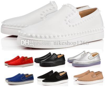 Männer Frauen Spitzen rote untere beiläufige Schuh-Turnschuh 2020 neue Ankunfts-Art- Pik Boot Flats Low lila Wildleder-echtes Leder-Mann Weibliche Schuhe