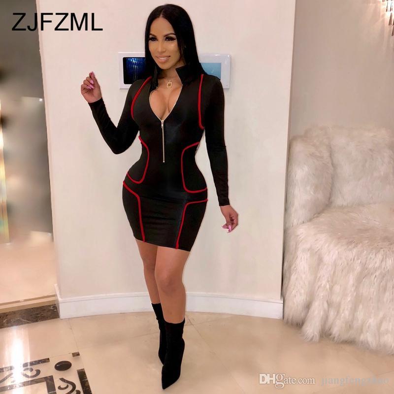 1efbb9a663f ... Striped Patchwork Sexy Plus Size Dress Women Turn Down Collar Full  Sleeve Pencil Dress Streetwear Color ...