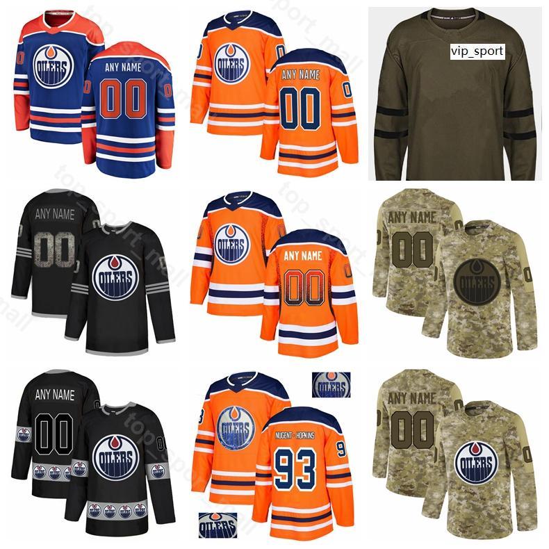 Edmonton Oilers Hockey Leon Draisaitl Jersey Ryan Nugent-Hopkins Matthew Benning Ty Rattie Jesse Puljujarvi Caleb Jones Diamond Custom