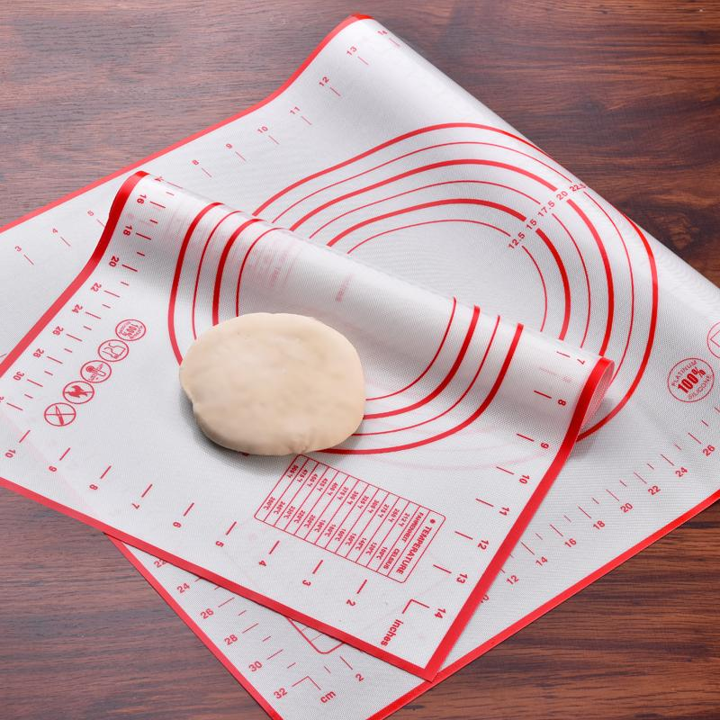 Non Stick Silicone Baking Mats Liners Cake Rolling Cuttinig Pizza Dough Fondant Mat Pastry Sheet Accessories Supplies Items