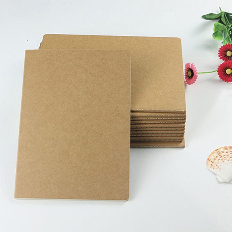 براون كرافت غطاء خياطة المفكرة ممارسة المدرسة دفتر اليومية لينة مع خط دفاتر الدفتر لينة خمر للمكتب والمدرسة