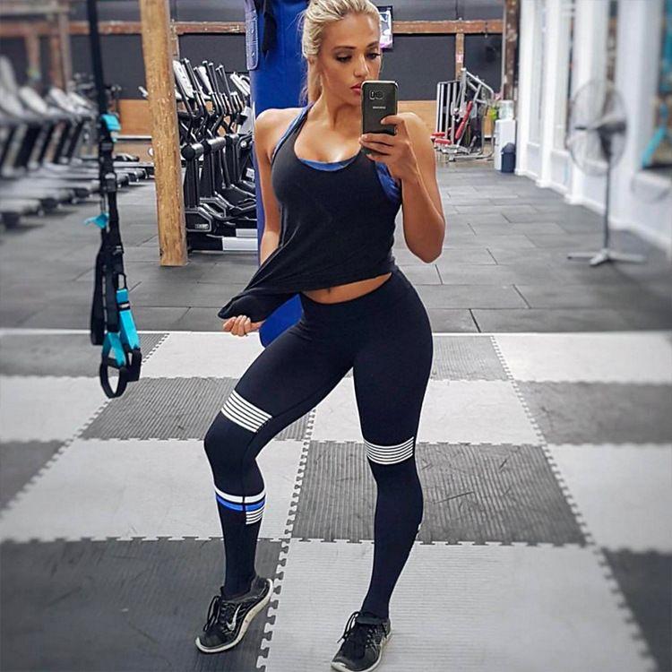 Ofset Baskı Yoga Pantolon Orta Bel Ayaklar Spor Pantolon Naylon Yüksek Kaliteli Spor Gao Bomba Kadın Para Atang Running