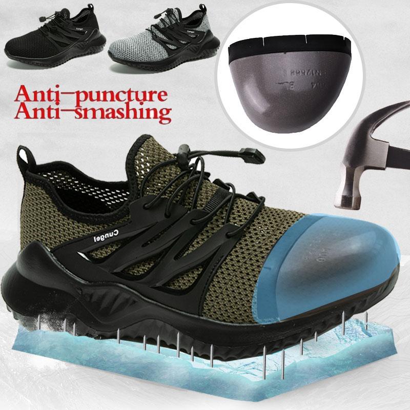 Chaussures de sécurité CUNGEL hommes et les femmes en acier Toe chaussures Air Wark Bottes de sécurité INCREVABLE travail Sneakers chaussures respirantes