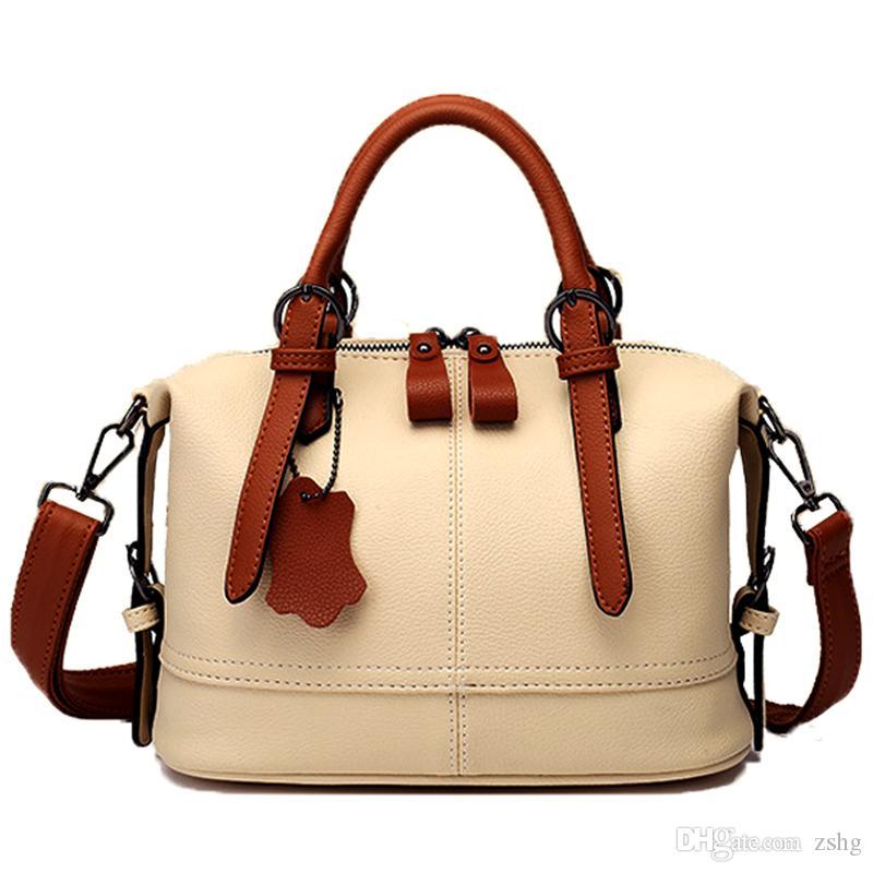 Natürliche Rinds Frauen Handtasche echtes Leder-Taschen Damen große Schulterhandtaschen Art und Weise Frauenkurierbeutel beiläufig Tragesack