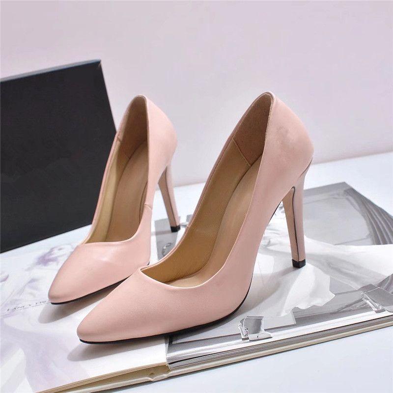 2020 mujeres de la moda altos talones de las mujeres forman los zapatos de famosas mujeres de los tacones zapatos de vestir zapatos de boda vienen con la caja