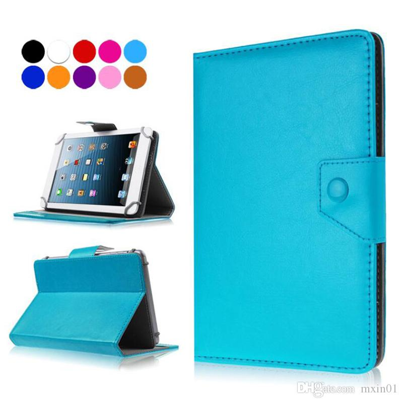 Universal Adjustable Hook Flip PU Leather Stand Case For 7 8 9 10 10.1 10.2 inch Tablet PC MID Samsung Tab S5E iPad Huawei T3 M3 M5 PSP