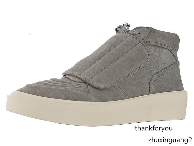 Mens Skate Mid Sneaker por Homens 101 Lace Up Sneakers Man Medo de Male FOG Homens Bota Desporto de Deus Sports Botas de calçados casuais Hommes Moda Calçados