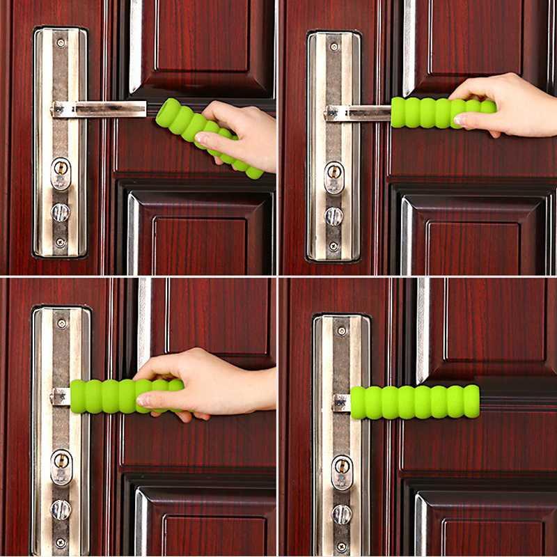 20 шт поворот дверной ручки крышка пылезащитный чехол для ребенка Детская безопасность поставки комната дверная ручка декор крышки спираль анти-столкновение