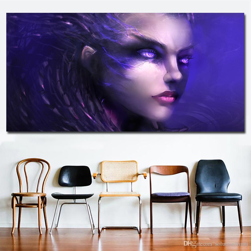 1 Pièce HD Imprimé Abstrait Art Peinture Animation Figure Image Affiche Imprimer Toile Art Peinture Mur Art Photos pour Vivre Roo No Frame