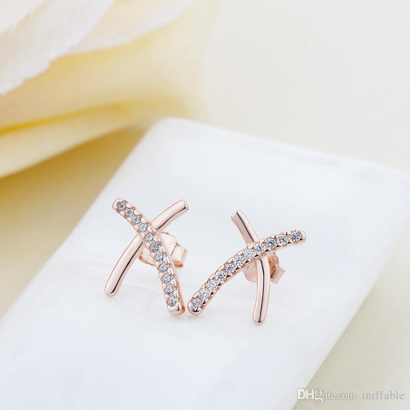 خمر رائعة أقراط 925 فضة الحديثة الريشة جميلة الأذن وأقراط للنساء خطوبة مجوهرات