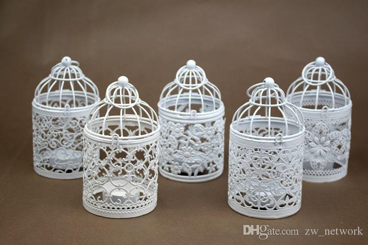 Creative mental birdcage candle holders vintage Pastoral candle stick holder Iron Aromatherapy candlestick holder for wedding home decors