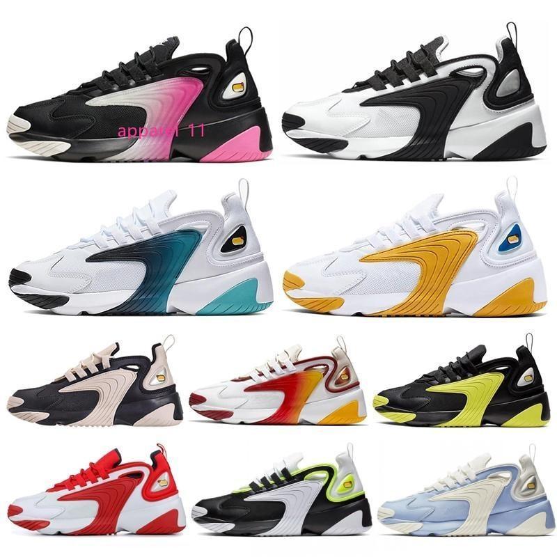 2020 Arcobaleno Triple nero bianco panna Zoom 2K m2K uomini che fanno funzionare le scarpe da tennis delle donne Tekno Race sport degli uomini Rosso Blu reale Grigio Scuro