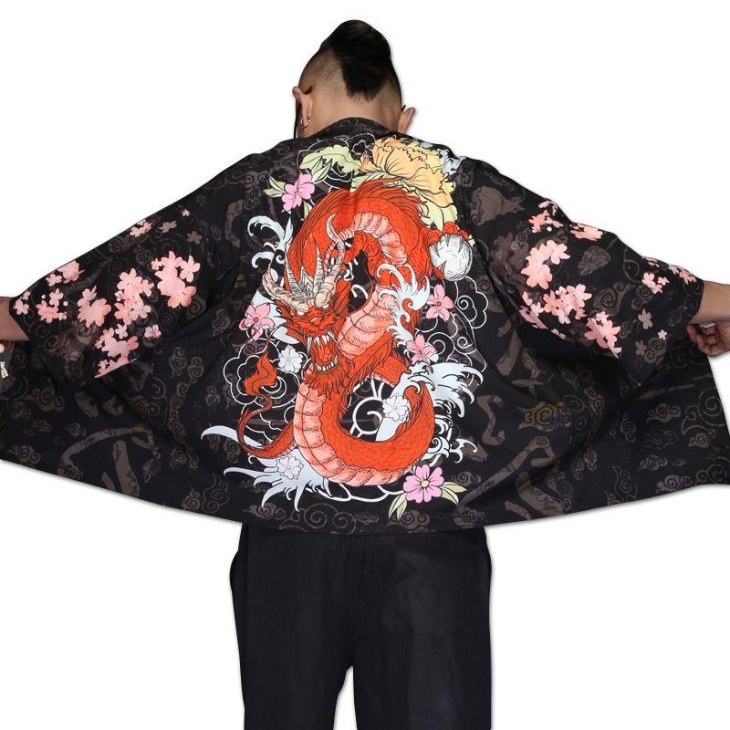 Yukata haori men Japanese kimono cardigan men samurai costume clothing kimono jacket mens shirt yukata haori TA001