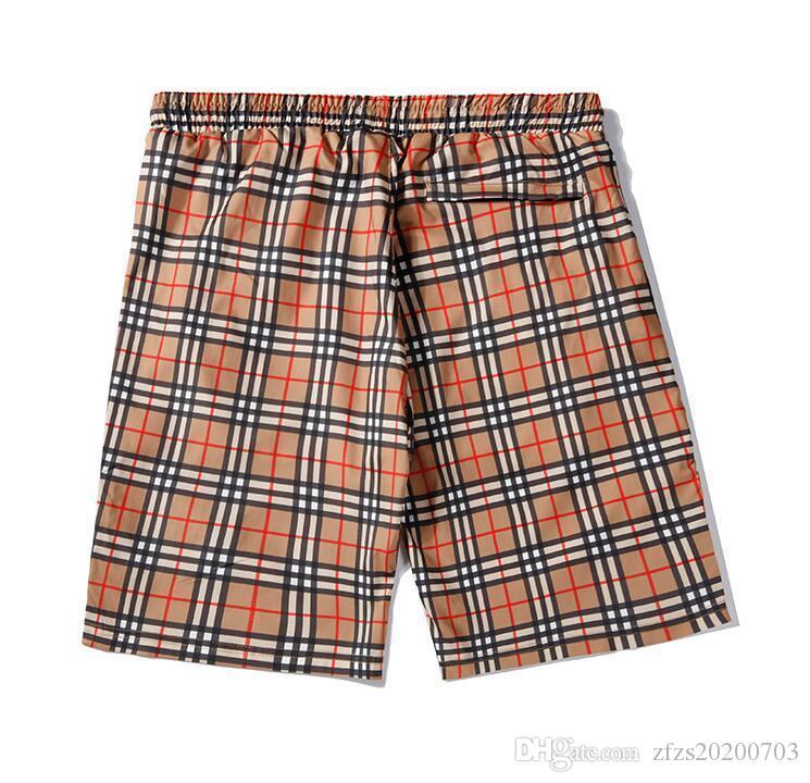 2020 erkek plaj şort sıcak pantolon, gevşek ve rahat ince, çizgili tasarımı, yaz gündelik spor pantolon