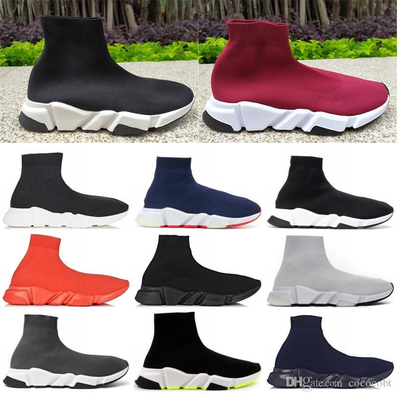Kadın Erkek Yüksek Çorap Ayakkabı Hız Eğitmen Platformu Casual Sneakers Parti Ayakkabı Moda Madam 5-11 ABD'yi CHAUSSURES