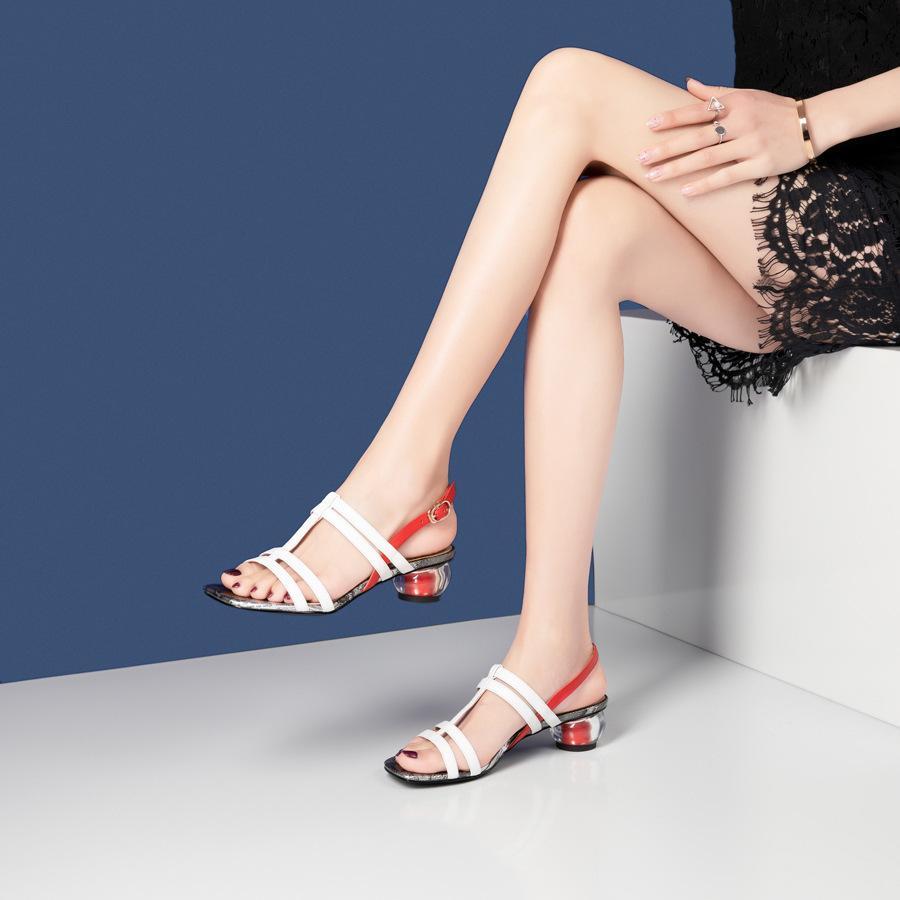Fairy2019 Money Summer Ins Tide Rome Sandali con scarpe grosse con scarpe da donna