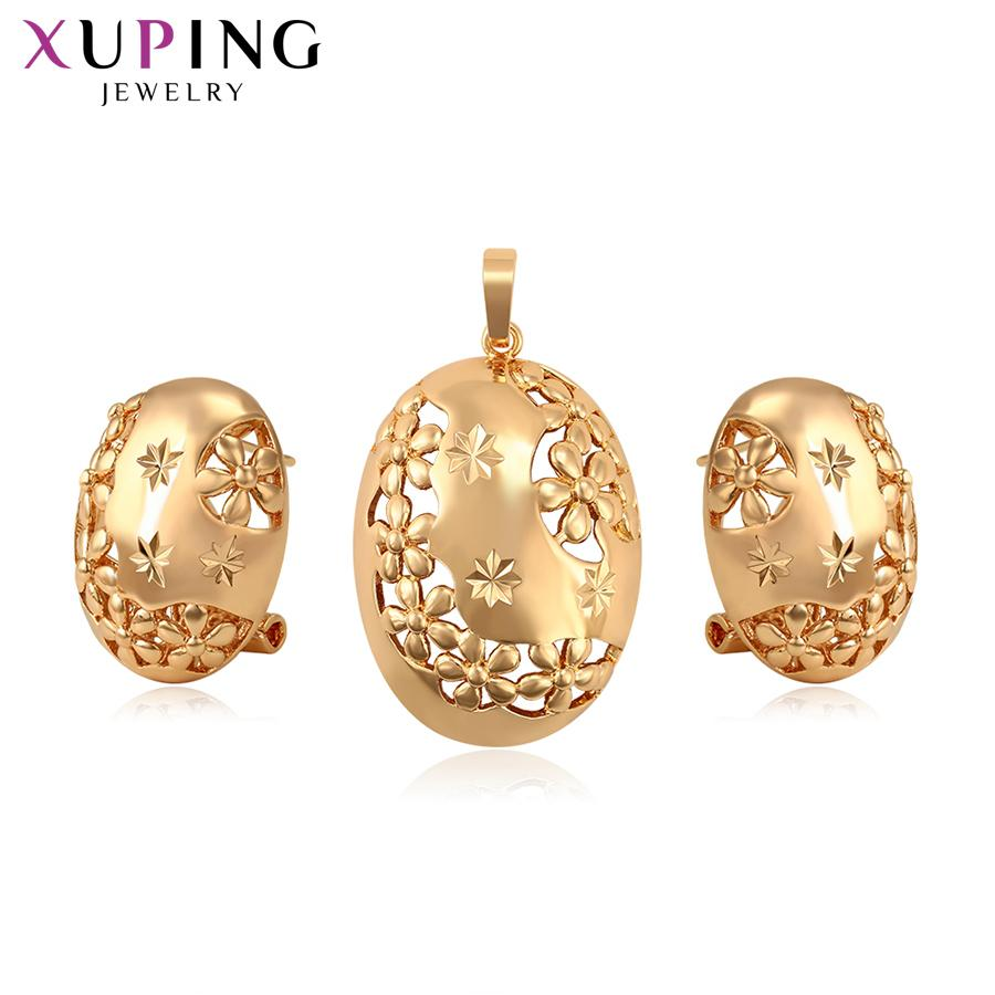 Xuping Gold-color Plated Round Series Jewelry Sets for Women Individuality Thanksgiving Gifts S124,2-65266