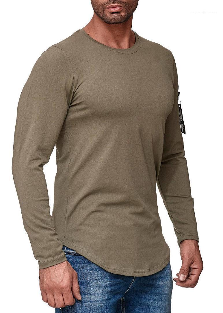 القمم يا الرقبة ملابس الرجال الخريف جديد مصمم القمصان بأكمام طويلة شارع الأزياء المتناثرة