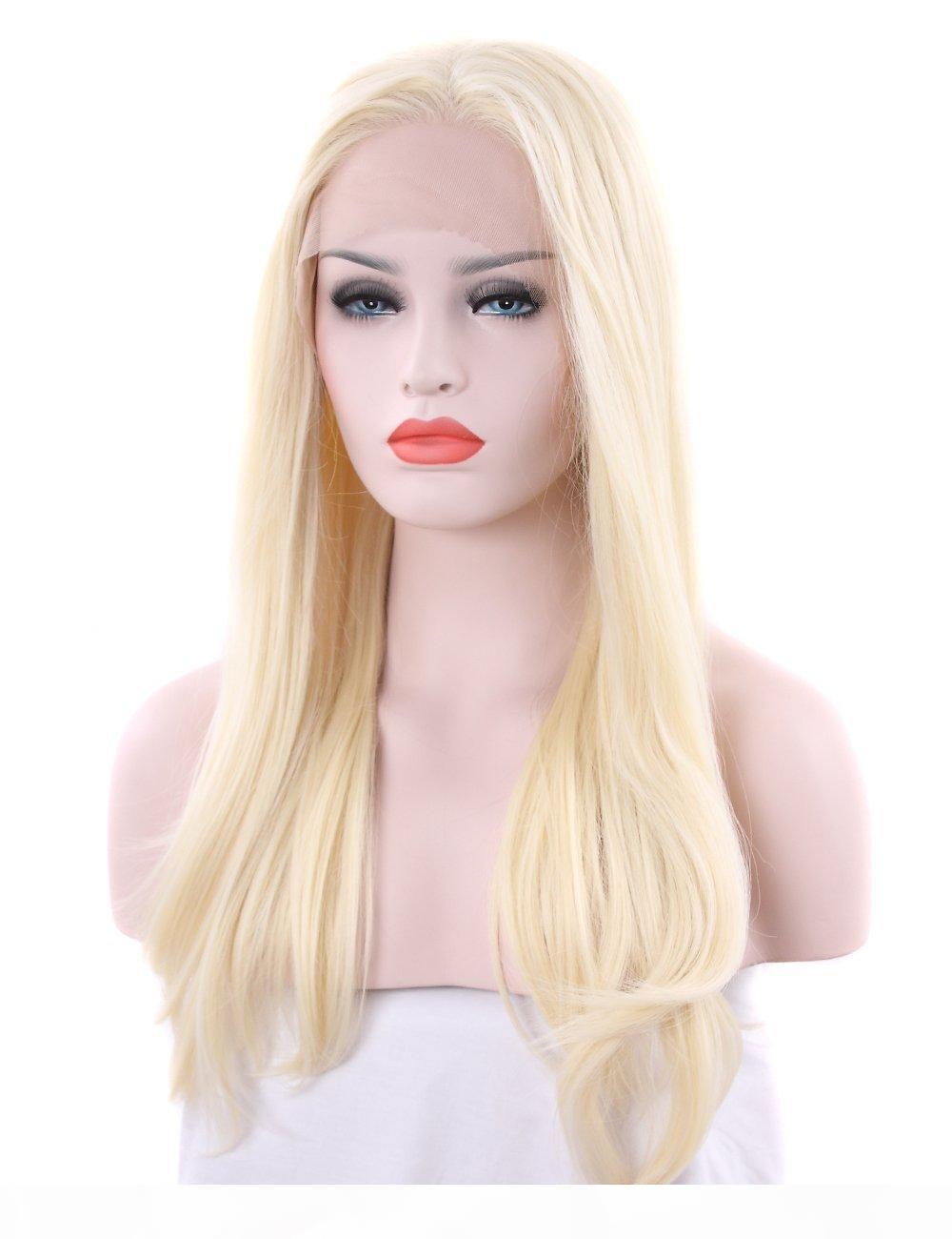 Parrucca diritta piena del merletto 613 # Biondo a donne con capelli del bambino Glueless Virgin brasiliano dei capelli umani Parrucche
