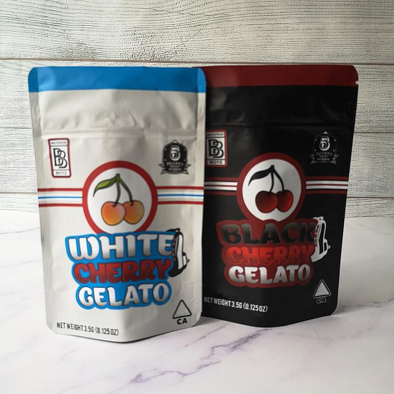 Nouvelle arrivée 3.5G mylar Sacs citron sacs cerise Gelato BACKPACK BOYZ sac blanc cerise noire Gelato Sacs 420 sec Herb Flower Emballage