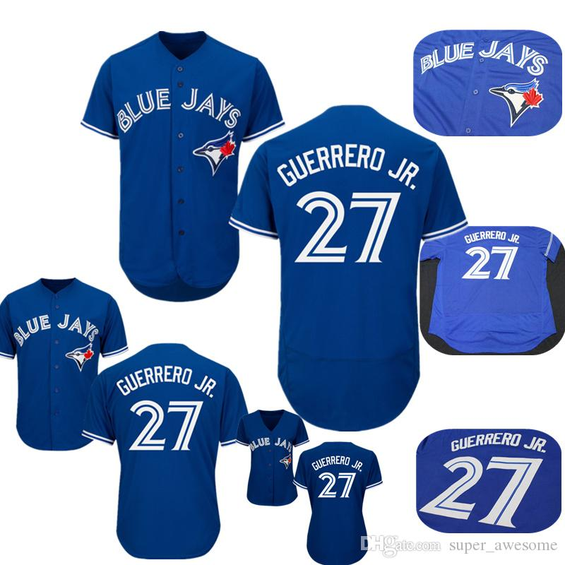 timeless design 0945a 2733f 2019 27 Vladimir Guerrero Jr Jersey Men Toronto Blue Jays Baseball Jerseys  Blue Stitched From Super_awesome, $16.51 | DHgate.Com