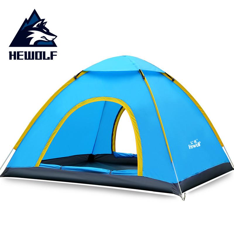 HEWOLF Male Wolf Outdoor Hand Throw 3 4 People Speed Open Tent Multi-person Automatic Outdoor Camping Beach Park Leisure Tent