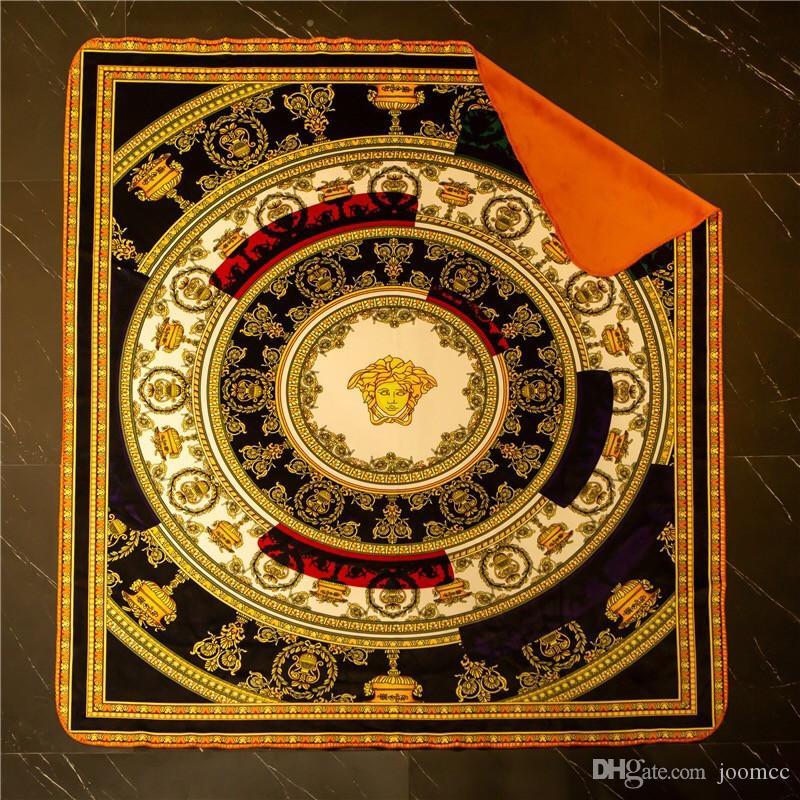 Gold Vintage Print Blanket High Quality Goddess Designer Blankets Classics Blanket Home Textiles With Gift Box