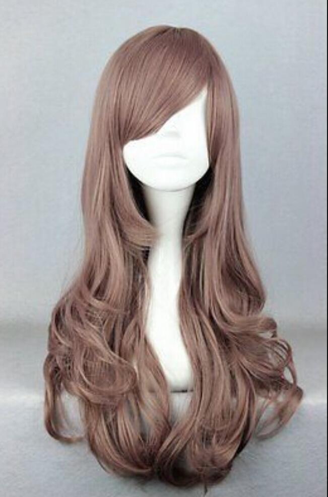 WIG free shipping X4 Harajuku Style 60cm Long heat resistant Fiber Lolita Cosplay Wig