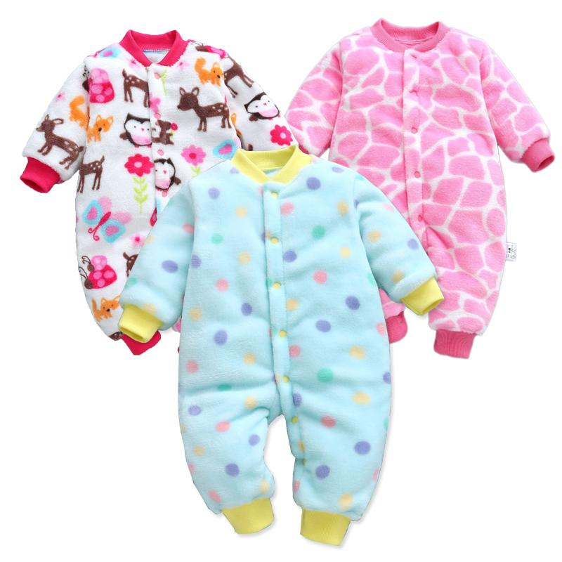 Baby Rompers Long Sleeve Jumpsuit Bebe Infant Clothing Thick Warm Autumn Winter Newborn Clothes Onesie Girls Outfits Coveralls J190525