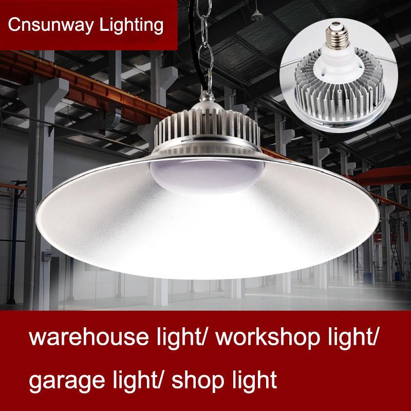 SMD2835 Industrial LED High Bay Light 85-265 Утверждена светодиодные лампы вниз свет Прожектор освещения Downlight бензоколонка LED Canopy