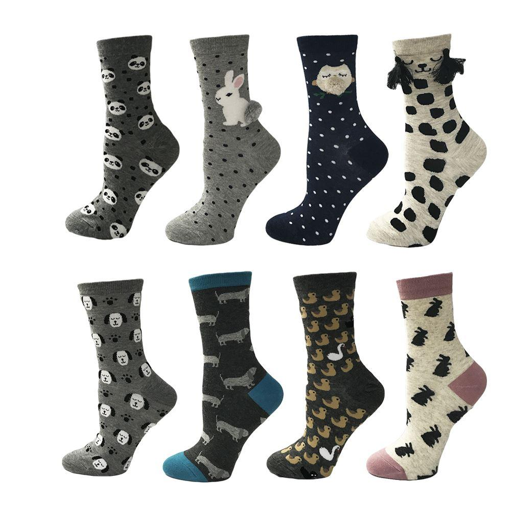 10 Color High Quality Colorful Cute Cartoon Animal Funny Women's Socks Sweet Love Gift for Girl