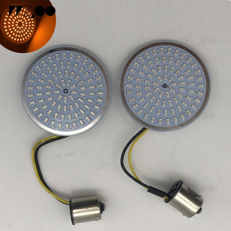 Bullet de motocicleta ámbar y rojo LED intermitente 1156 inserciones para Sportster XL Electra Tri Glide Softails