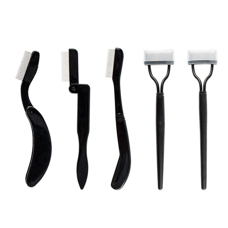 أدوات طوي الفولاذ المقاوم للصدأ إبرة الحاجب مشط الرموش التعامل مع التقويس البلاستيك الحاجب مشط المهنية مستحضرات التجميل أدوات RRA2152