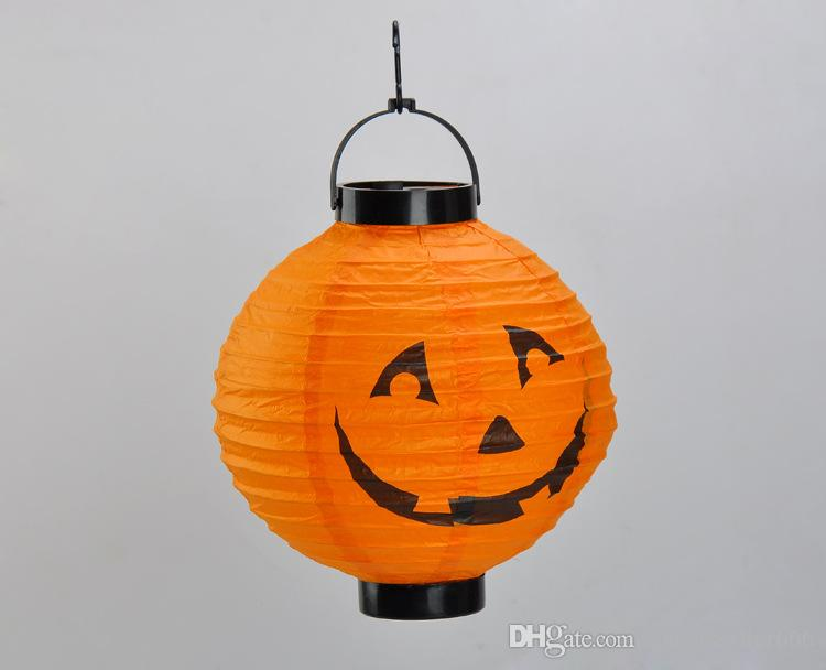 Хэллоуин Хэллоуин тыква паук призрак летучих мышей бумажный фонарь лампа открытый свет украшения для партии праздничные украшения