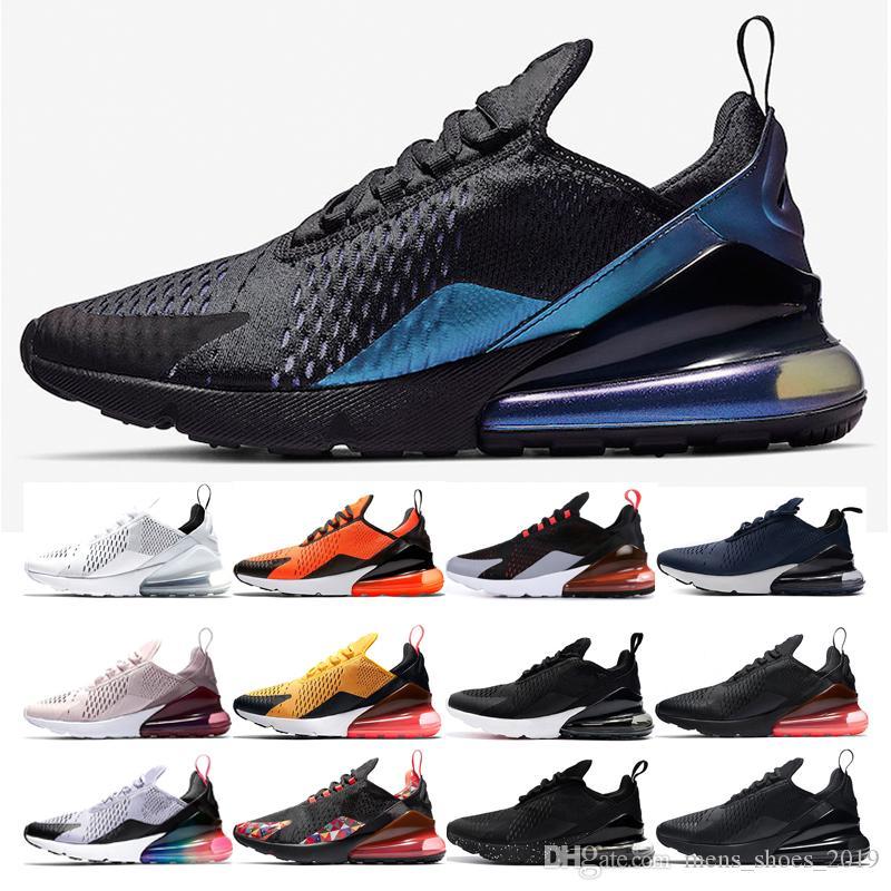 Compre Nike Air Max 270 Hombres De Lujo Chaussures Zapatos Para Correr Para  Mujer Regency Purple Triple Negro CNY BARELY Rose Hot Punch Zapatillas ...