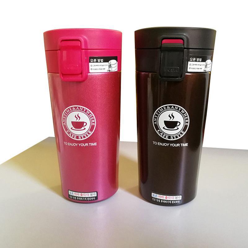 Caneca garrafa de aço inoxidável Moda 380ml quente canecas Duplas Água Tumbler Thermos Cup Vacuum Flask premium de viagem