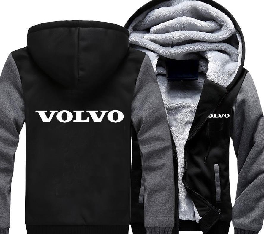 MIDUO 2018 Logo Homens Mulheres Car Zipper Moletons Velvet parede Quente Brasão Thicken velo capuz Cardigan Hoodies Cotto Casual