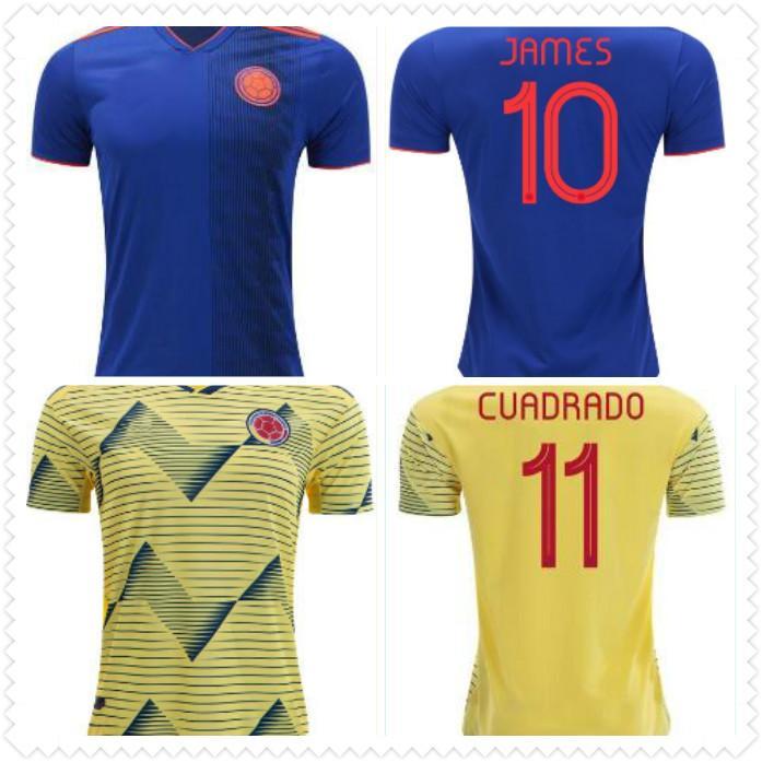 Acquista 2019 Colombia Maglie Da Calcio Cop America Colombia Maglia Calcio JAMES Rodriguez Camiseta De Futbol FALCAO CUADRADO Maglie Piede A 11,81 € ...