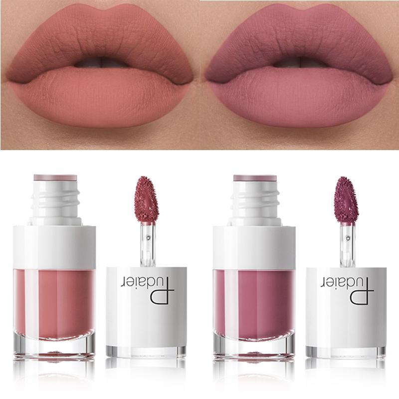 Pudaier Líquido Matte Lipstick impermeável Tattoo Maquiagem Red Lip Longa Duração Lip Tint Matte Lip Gloss Rouge A lèvre Mat