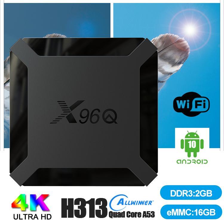 X96Q الروبوت التلفزيون مربع ALLWINNER H313 رباعية النواة دعم الذكية TV تلفزيون واي فاي 1/2 + 8 / 16GB TV صندوق