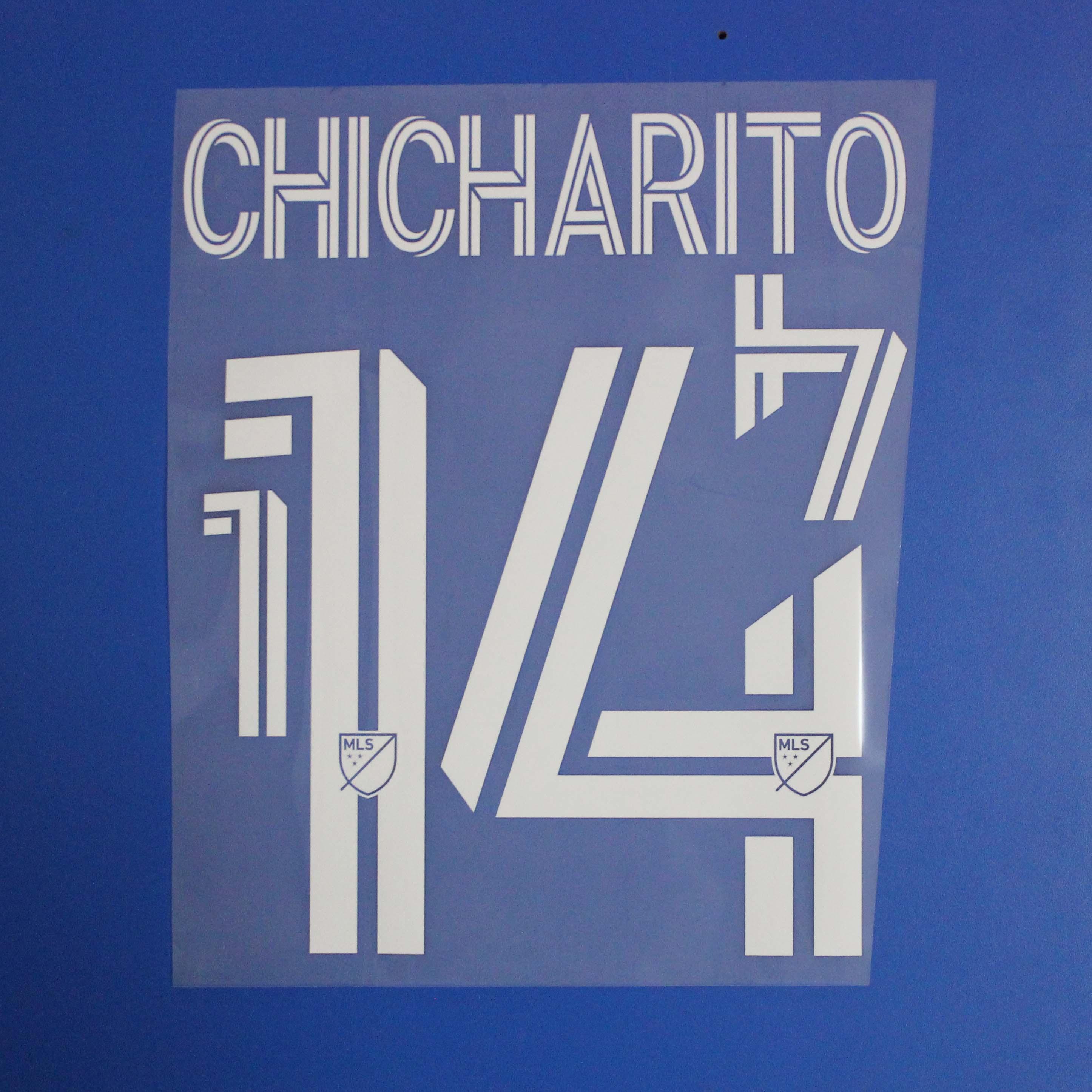 2020-21 Binbaşı lig LA Galaxy futbol Nameset özelleştirme adı A-Z Numarası 0-9 Baskı Futbol Oyuncu yazı Chicharito nameset