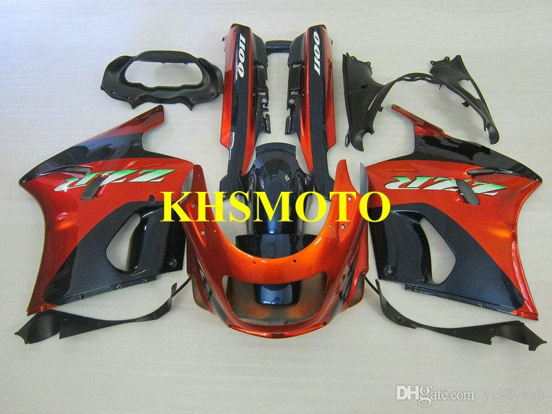 Motorcycle Fairing kit for KAWASAKI Ninja ZZR1100 93 99 01 03 ZZR 1100 ZX11 1993 2001 2003 ABS Red blue Fairings set+gifts ZD04