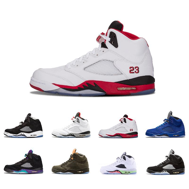 nternational Flight 5 White Grape Man 5s V Basketball Shoes bred Alternate 90 Black Metallic Silver oreo Sport Trainer Sneakers 41-47