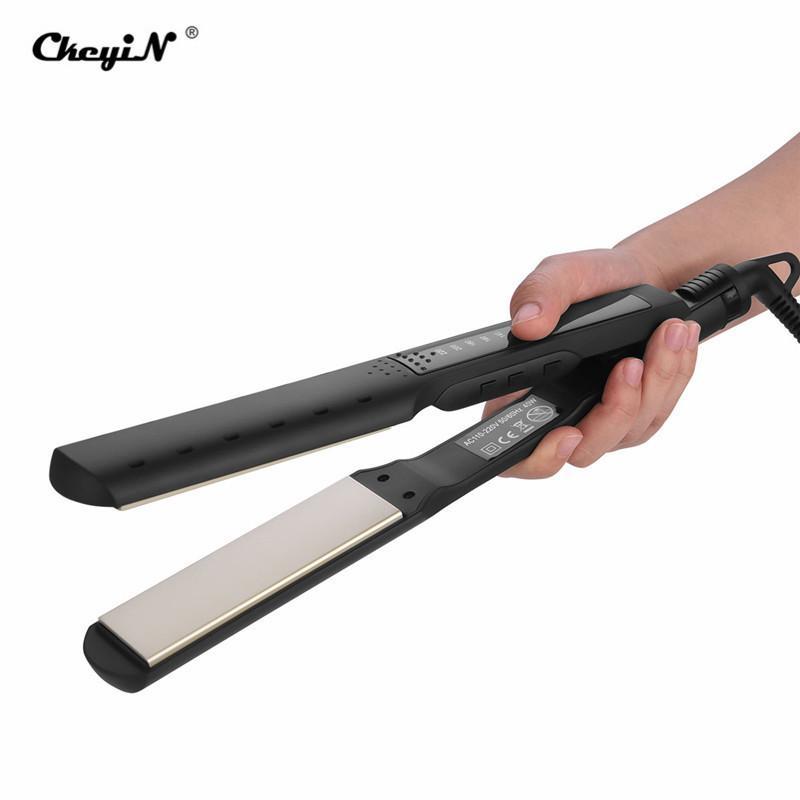 Профессиональный выпрямитель для волос анион 3D плавающая широкая пластина Керамический плоский утюг влажные / сухие волосы выпрямление инструмент для укладки салон 35